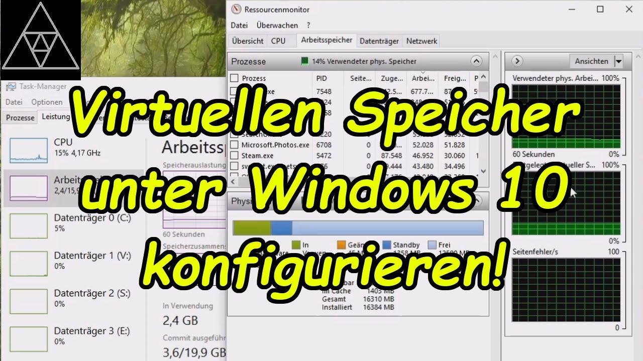 Virtueller Arbeitsspeicher Windows 10