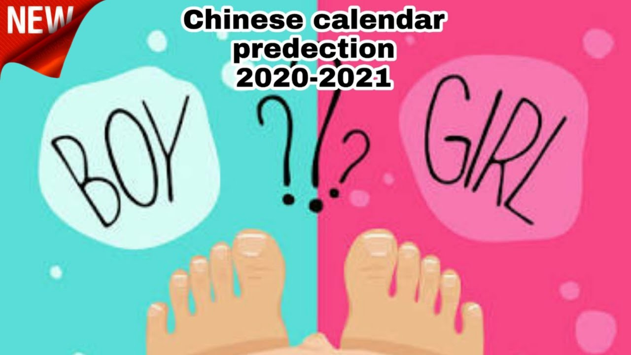 Chinese Calendar Gender 2022.Chinese Calendar Gender Prediction 2020 2021 Youtube