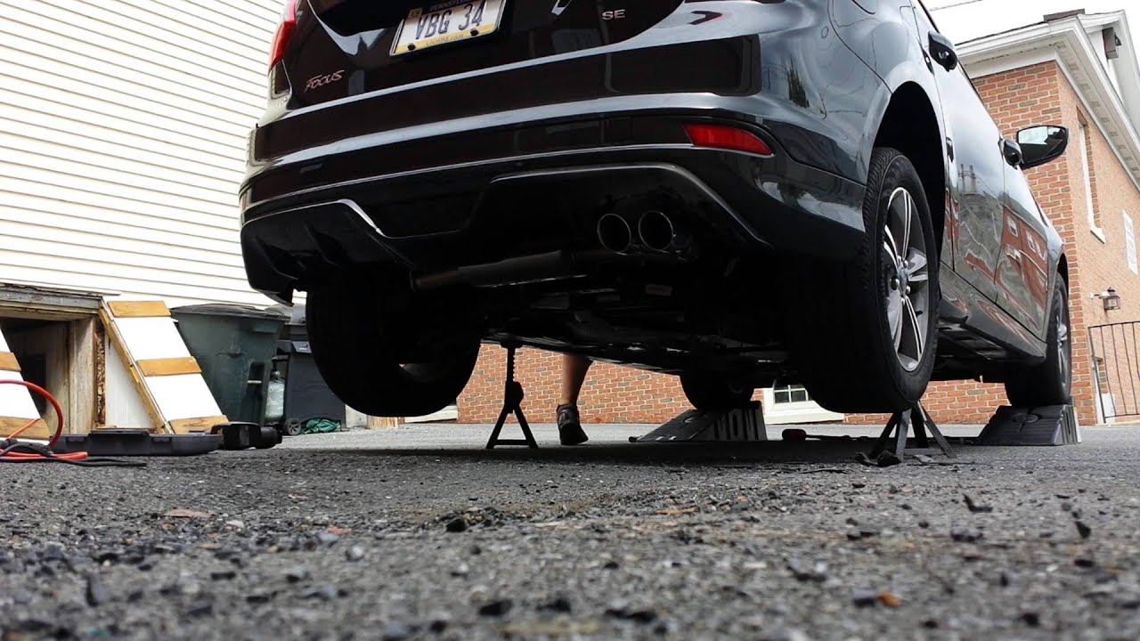 2014 Ford Focus With Ford Racing Exhaust Youtube