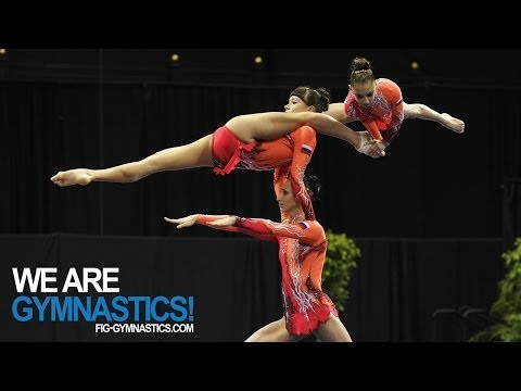 2012 Acrobatic Worlds - LAKE BUENA VISTA, USA - Women's Group Final - We are Gymnastics! thumbnail