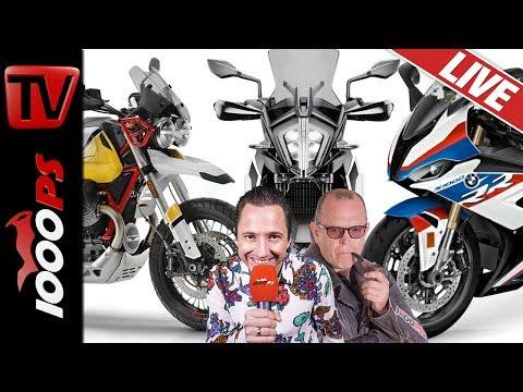 KTM 790 Adventure, BMW S 1000 RR und Moto Guzzi V85 TT - 1000PS Live Motorrad Talkshow