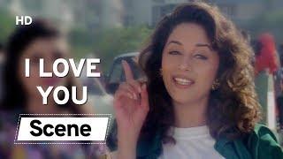 Madhuri Dixit force to say I LOVE YOU | Raja | Sanjay Kapoor | Paresh Rawal | Romantic Movies
