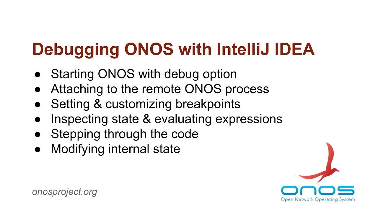 Debugging ONOS with IntelliJ