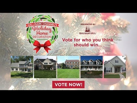 Vote Now! - Hallmark Channel's Holiday Home Decoration Sweepstakes