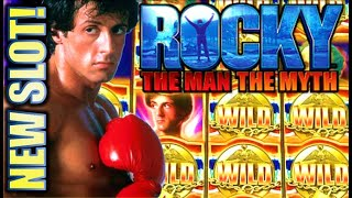 ★NEW SLOT! ★ ROCKY 🥊 $5.00 MAX BET SESSION! THE MAN THE MYTH Slot Machine Bonus (SG)