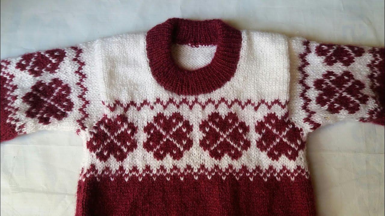 cf72d0740 Kids two colour knitting design   7 - YouTube
