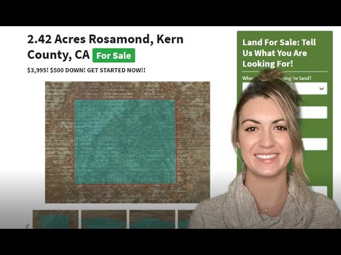 2.42 Acres Property For Sale In Rosamond Kern County, California, CA USA