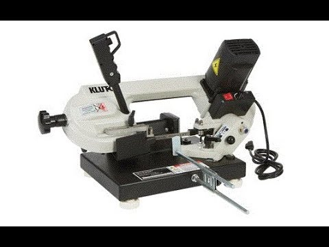 Klutch Benchtop Metal Cutting Band Saw First Cut Youtube