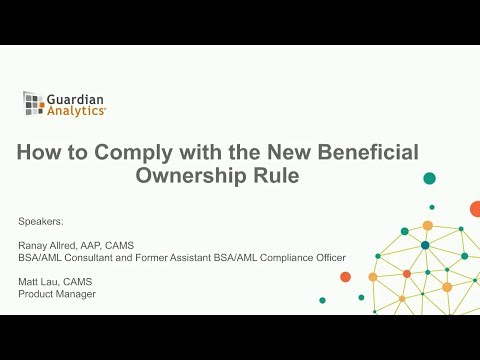 How To Comply With The New FinCen Beneficial Ownership Rule