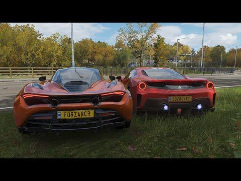 McLaren 720S vs Ferrari 488 Pista – Forza Horizon 4 Drag Race