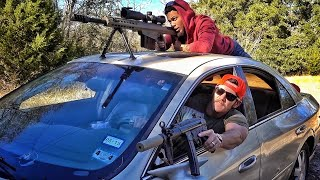 Firing a 50BMG Inside A Car...