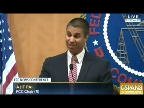 FCC Head Holds Press Conference After Killing Net Neutrality