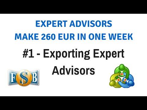 Part 1 - Exporting Expert Advisors - Expert Advisors