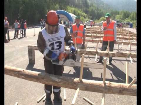 В Красноярске прошёл конкурс лесорубов