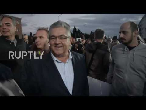 Greece: Thousands march against austerity cuts in Athens