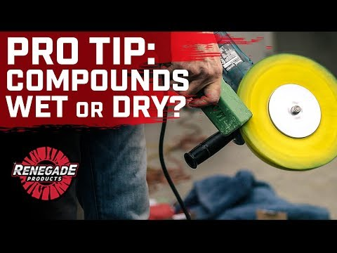 Renegade Products | PRO Tip: Wet vs Dry Polishing Compounds ft. @Evan Steger