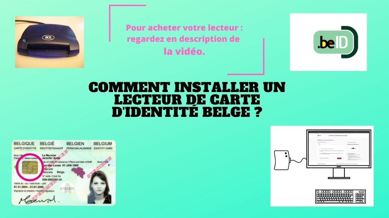 Comment Installer Un Lecteur De Carte D Identite Belge Youtube