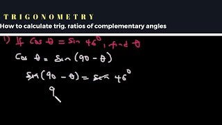 Trigonometric Ratio of Complementary Angles (worked examples)