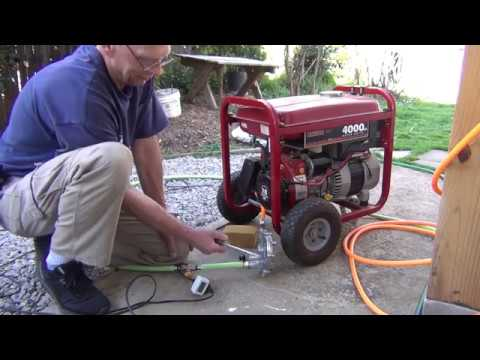 Easy generator conversion to propane or natural gas.
