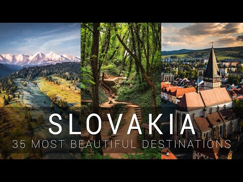 SLOVAKIA - 35 most beautiful destinations | Cinematic video