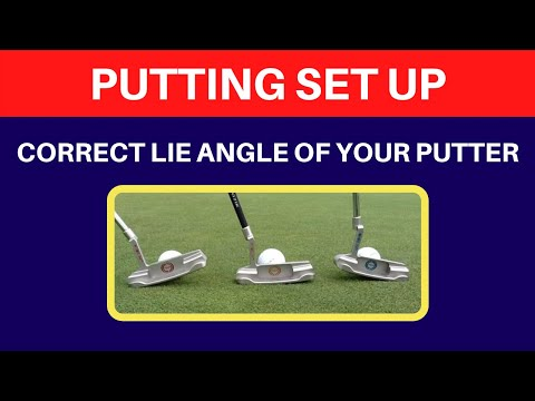 Putter Lie Angle at Address SD - YouTube