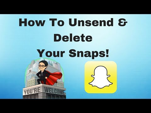 How to delete pictures on snapchat text