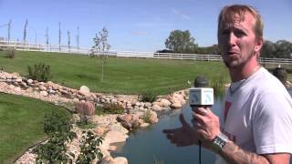 Rob @ Animal World: The Pond Expert's Backyard 144,000 Gallon Koi Pond!