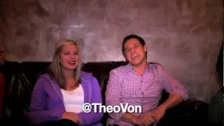 Green Room Gang-Up at the Palm Beach Improv: Christina Pazsitzky & Theo Von!