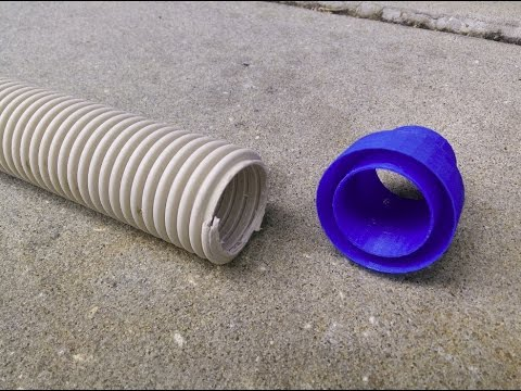Male Pool Hose Replacement Fitting Time Lapse - YouTube