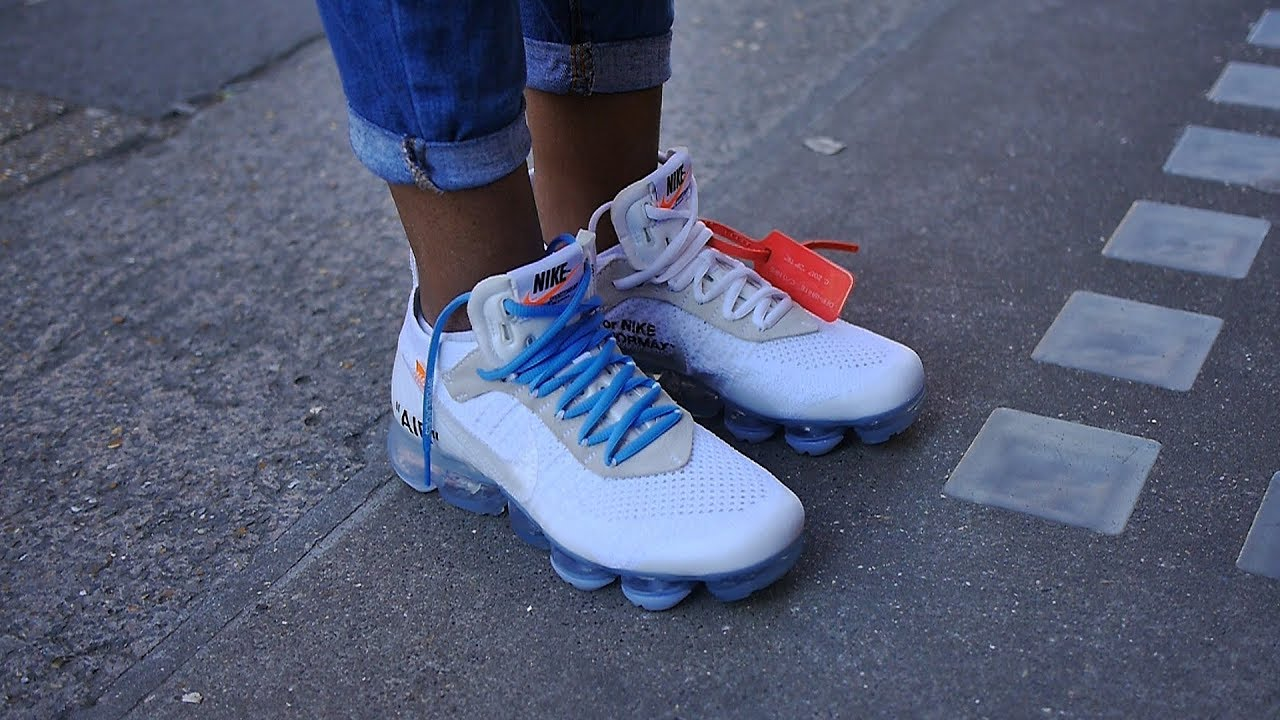 47aababc96f Nike x Virgil Abloh s Off White The Ten  Air Vapormax White On Feet - Too  many