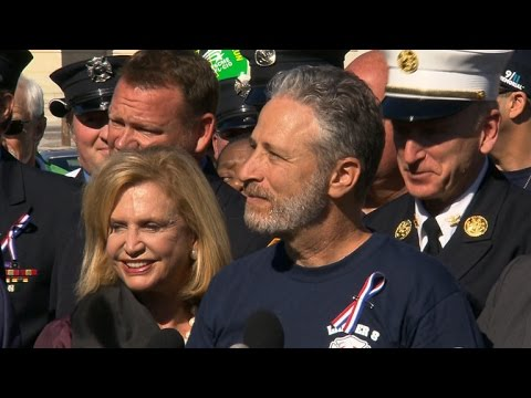 Jon Stewart urges Congress to extend 9/11 health benefits