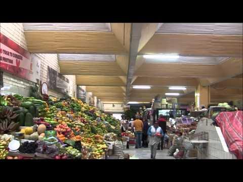 Fruit market in Quito Ecuador - la Carolina.