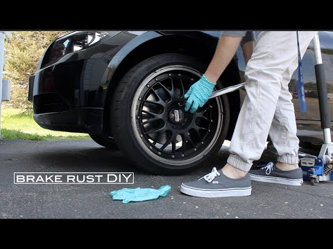brake rust DIY
