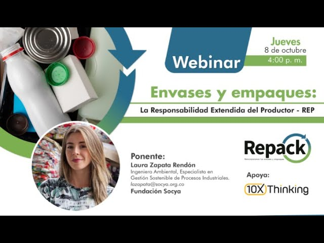 Webinar | Envases y empaques: La Responsabilidad Extendida del Productor   REP