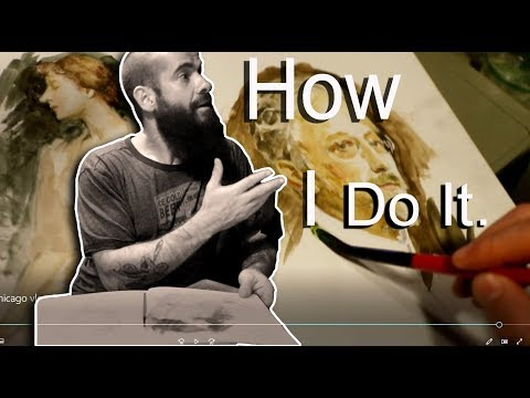 Drawing And Painting In Chicago, IL. Cesar Santos Vlog 065
