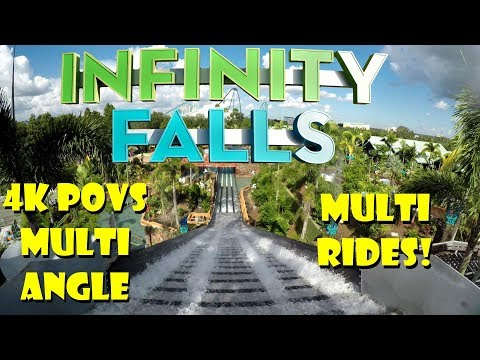 *FIRST LOOK* Infinity Falls 4K POVS, Multiple Rides / Angles SeaWorld Orlando