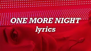 New Kids on the Block - One More Night (Lyrics)