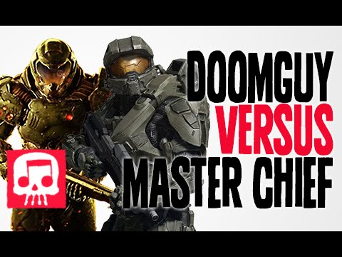 DOOMGUY VS MASTER CHIEF Rap Battle by JT Music and Teamheadkick