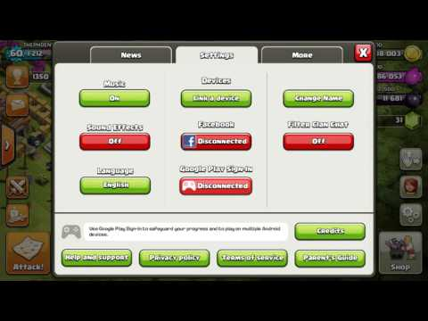 HOW TO SIGN-IN IN CLASH OF CLANS WITH GMAIL ACCOUNT