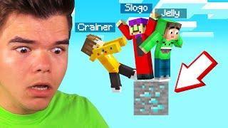 STUCK On A DIAMOND ORE In ONEBLOCK! (Minecraft)