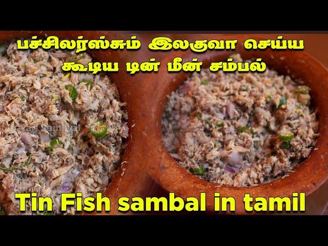 பச்சிலர்ஸ்சும் இலகுவா செய்ய கூடிய டின் மீன் சம்பல்   Tin fish sambal in tamil   Samon sambol tamil