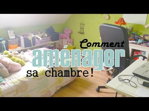 decoration comment am nager sa chambre organizing your room youtube. Black Bedroom Furniture Sets. Home Design Ideas