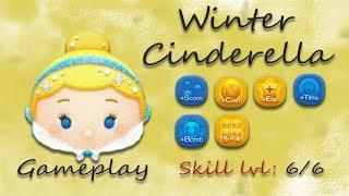 Line Disney Tsum Tsum - Winter Cinderella SL 6 Gameplay