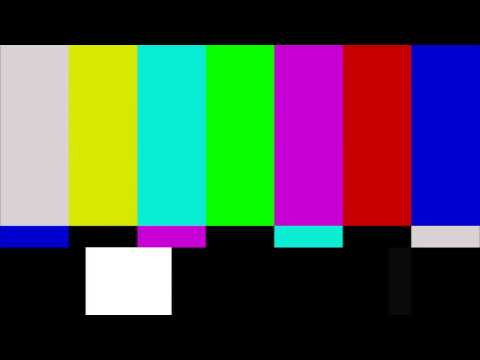 SMPTE color bars - No Signal TV (4s)
