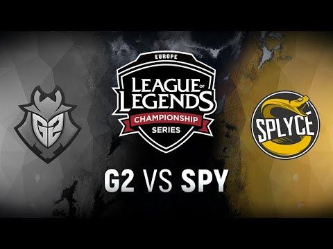 G2 vs. SPY | Round 2 Game 1 | EU LCS Regional Qualifier | G2 Esports vs. Splyce (2018)