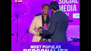 Aravinda Lokuge at Social Media Day Awards '18- Most Popular Personality