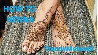 #1 Как рисовать МЕХЕНДИ на НОГЕ/ How to HENNA FOOT