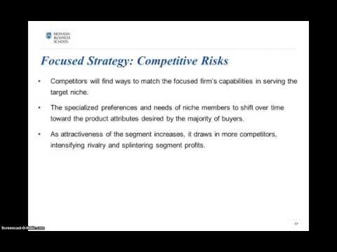 Business level Strategy- Focused Strategy