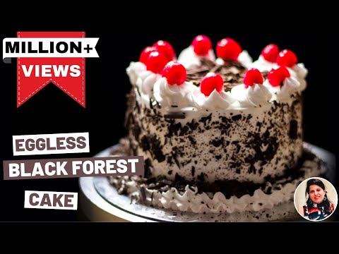 Black Forest Cake | Eggless Cake Recipe in Cooker | Cake Recipes in Hindi