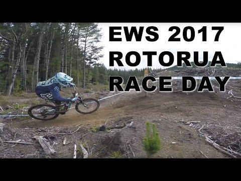 EWS CRANKWORX ROTORUA 2017 RACE DAY : Brutal, Slippery, Carnage - CG VLOG #103